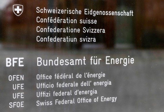 Name plate of the Swiss Federal Office of Energy, SFOE